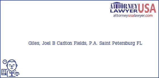 Telephone, Address and other contact data of Giles, Joel B, Saint Petersburg, FL, USA