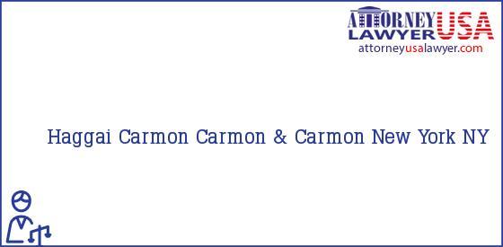 Telephone, Address and other contact data of Haggai Carmon, New York, NY, USA
