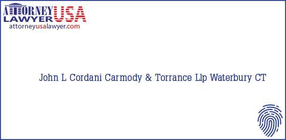 Telephone, Address and other contact data of John L Cordani, Waterbury, CT, USA