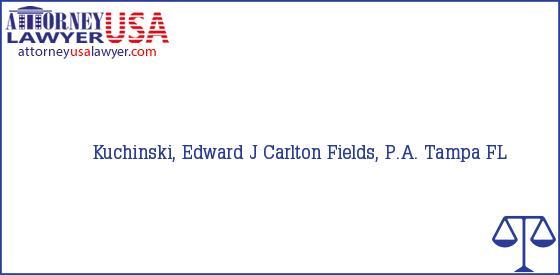 Telephone, Address and other contact data of Kuchinski, Edward J, Tampa, FL, USA