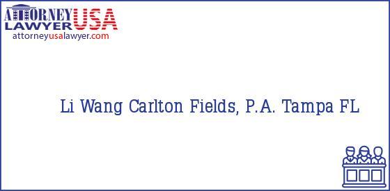 Telephone, Address and other contact data of Li Wang, Tampa, FL, USA