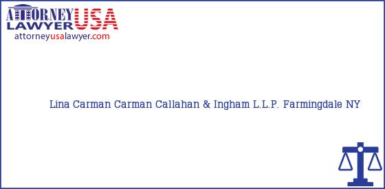 Telephone, Address and other contact data of Lina Carman, Farmingdale, NY, USA