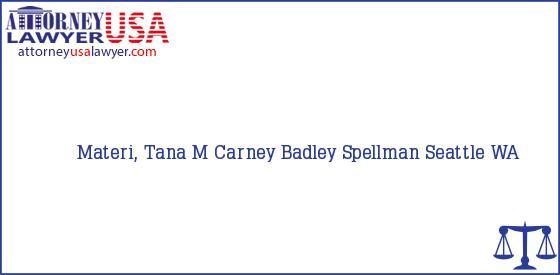 Telephone, Address and other contact data of Materi, Tana M, Seattle, WA, USA