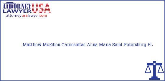 Telephone, Address and other contact data of Matthew McKillen, Saint Petersburg, FL, USA