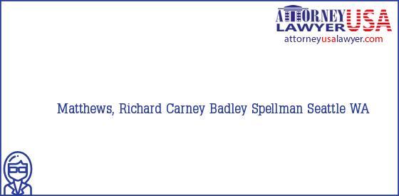 Telephone, Address and other contact data of Matthews, Richard, Seattle, WA, USA