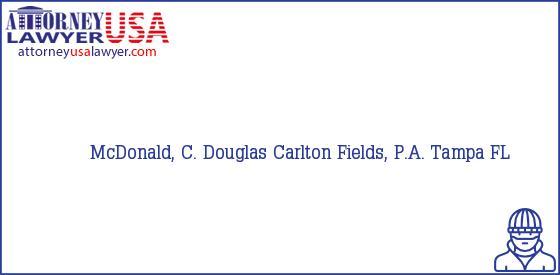 Telephone, Address and other contact data of McDonald, C. Douglas, Tampa, FL, USA