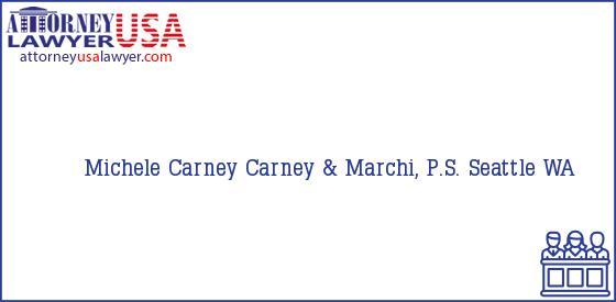 Telephone, Address and other contact data of Michele Carney, Seattle, WA, USA