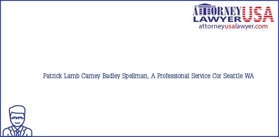 Telephone, Address and other contact data of Patrick Lamb, Seattle, WA, USA