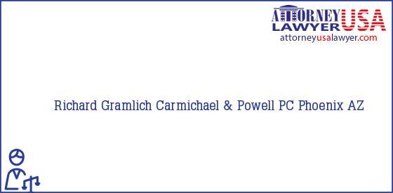 Telephone, Address and other contact data of Richard Gramlich, Phoenix, AZ, USA