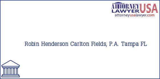 Telephone, Address and other contact data of Robin Henderson, Tampa, FL, USA