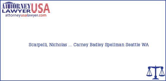 Telephone, Address and other contact data of Scarpelli, Nicholas ..., Seattle, WA, USA