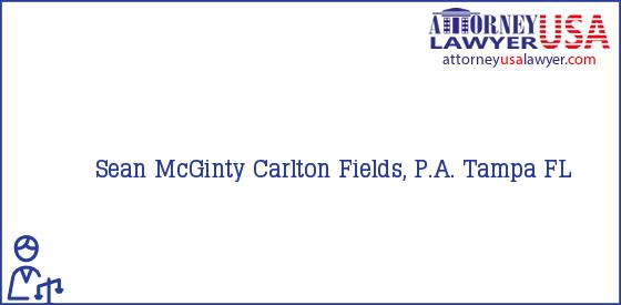Telephone, Address and other contact data of Sean McGinty, Tampa, FL, USA