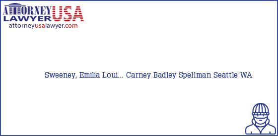 Telephone, Address and other contact data of Sweeney, Emilia Loui..., Seattle, WA, USA