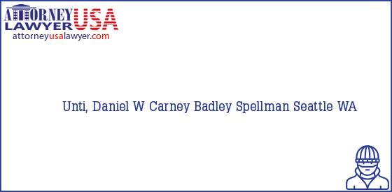 Telephone, Address and other contact data of Unti, Daniel W, Seattle, WA, USA