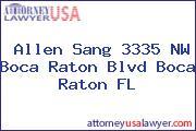 Allen Sang 3335 NW Boca Raton Blvd Boca Raton FL
