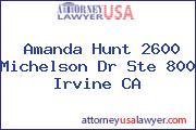 Amanda Hunt 2600 Michelson Dr Ste 800 Irvine CA