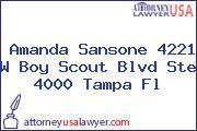 Amanda Sansone 4221 W Boy Scout Blvd Ste 4000 Tampa Fl