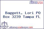 Baggett, Lori PO Box 3239 Tampa FL