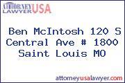 Ben McIntosh 120 S Central Ave # 1800 Saint Louis MO