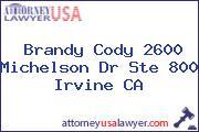Brandy Cody 2600 Michelson Dr Ste 800 Irvine CA