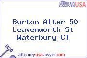 Burton Alter 50 Leavenworth St Waterbury CT