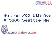 Butler 700 5th Ave # 5800 Seattle WA