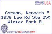 Carman, Kenneth P 1936 Lee Rd Ste 250 Winter Park FL