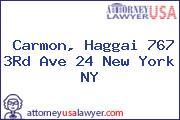 Carmon, Haggai 767 3Rd Ave 24 New York NY
