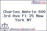 Charles Wehrle 600 3rd Ave Fl 25 New York NY