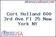 Cort Holland 600 3rd Ave Fl 25 New York NY