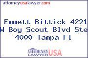 Emmett Bittick 4221 W Boy Scout Blvd Ste 4000 Tampa Fl