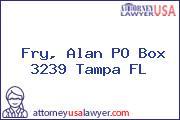 Fry, Alan PO Box 3239 Tampa FL