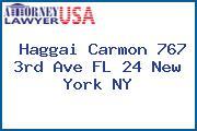 Haggai Carmon 767 3rd Ave FL 24 New York NY