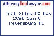 Joel Giles PO Box 2861 Saint Petersburg FL