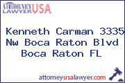 Kenneth Carman 3335 Nw Boca Raton Blvd Boca Raton FL