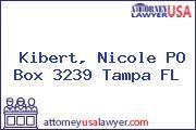 Kibert, Nicole PO Box 3239 Tampa FL
