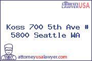 Koss 700 5th Ave # 5800 Seattle WA