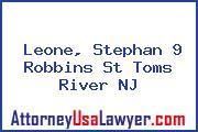 Leone, Stephan 9 Robbins St Toms River NJ