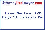 Lisa Macleod 170 High St Taunton MA