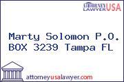 Marty Solomon P.O. BOX 3239 Tampa FL