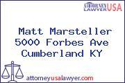 Matt Marsteller 5000 Forbes Ave Cumberland KY