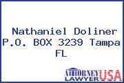 Nathaniel Doliner P.O. BOX 3239 Tampa FL