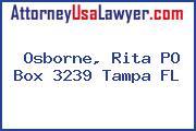 Osborne, Rita PO Box 3239 Tampa FL