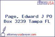 Page, Edward J PO Box 3239 Tampa FL