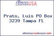 Prats, Luis PO Box 3239 Tampa FL