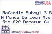 Rafeedie Suhayl 315 W Ponce De Leon Ave Ste 920 Decatur GA