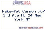 Rakeffet Carmon 767 3rd Ave FL 24 New York NY