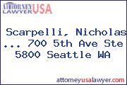 Scarpelli, Nicholas ... 700 5th Ave Ste 5800 Seattle WA