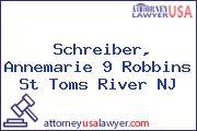 Schreiber, Annemarie 9 Robbins St Toms River NJ