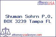 Shuman Sohrn P.O. BOX 3239 Tampa FL